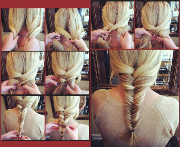 Плетение на средние волосы сам себе