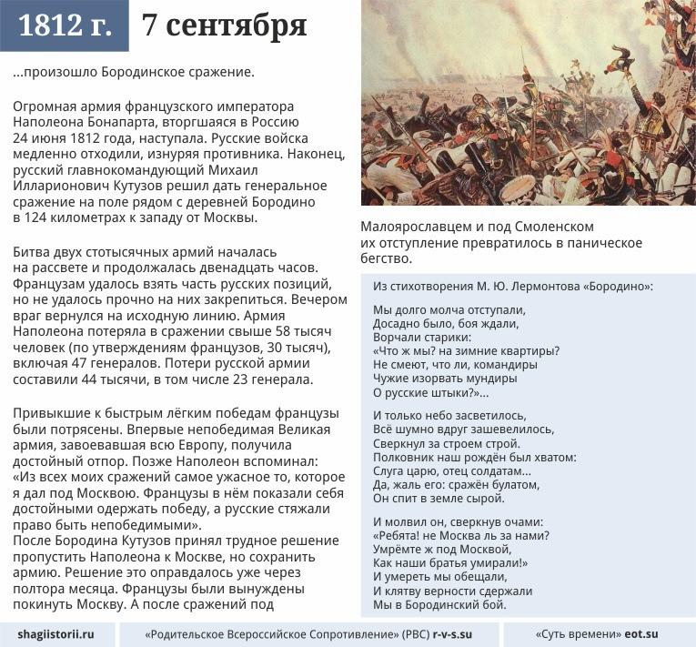 7 сентября 1812 года