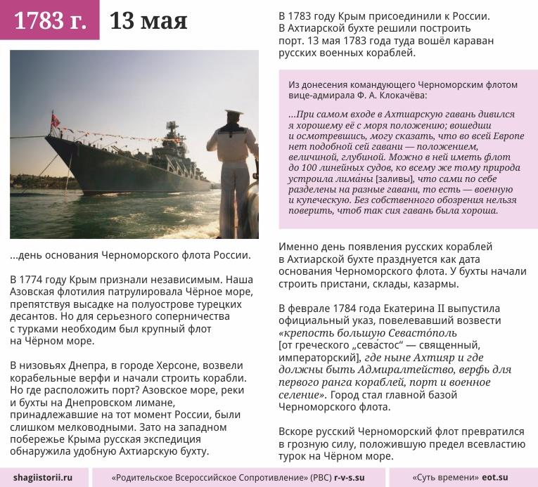 13 мая, 1783 года
