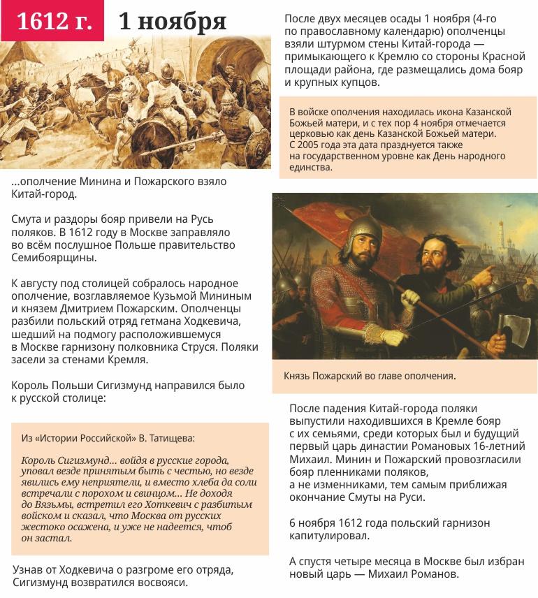 1 ноября 1612 года