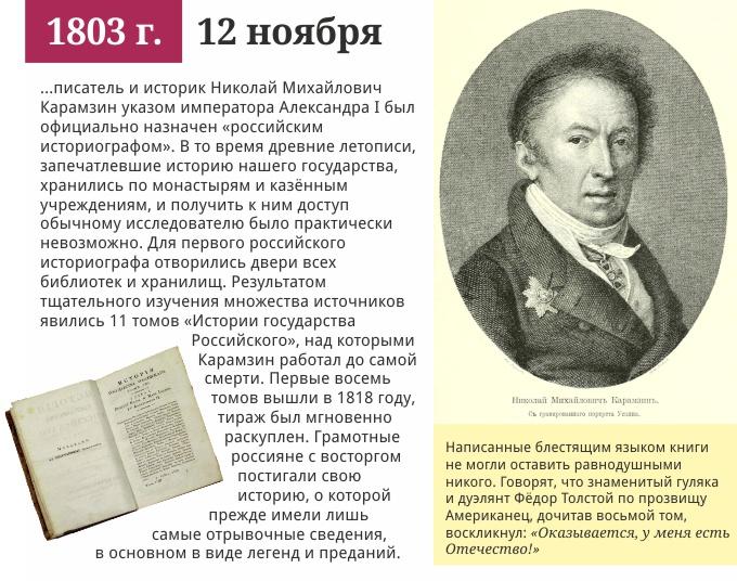 12 ноября 1803 года