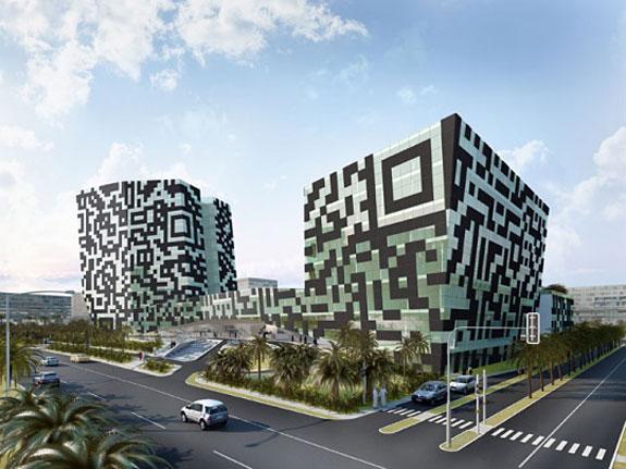 План отеля в виде QR-кода в Дубай