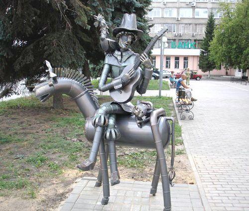 Памятник бременским музыкантам, г. Липецк