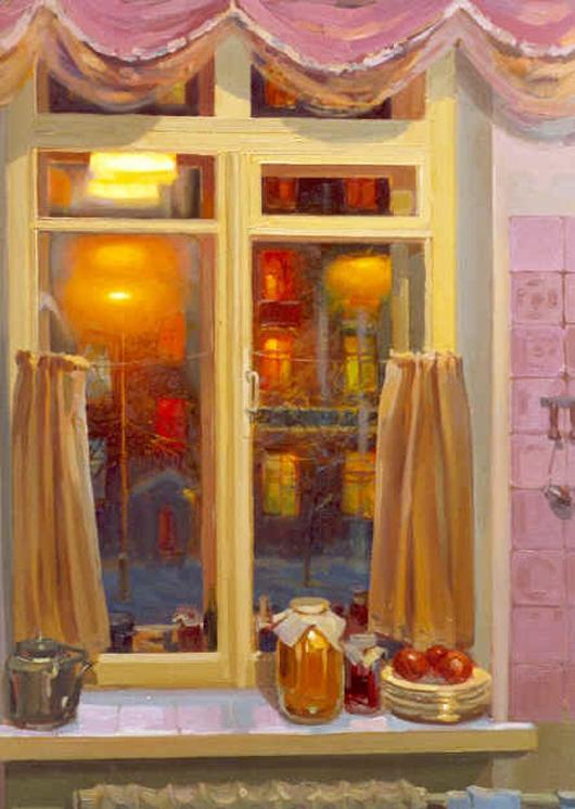 Large_Kitchen_Window_at_Night_48_x_36_oil_on_canvas