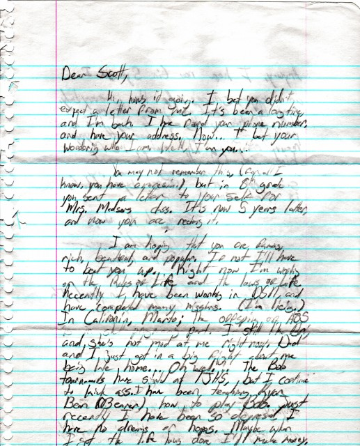 Letter from my youth (Front)