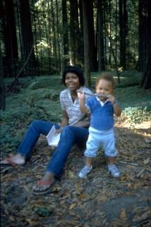 Imani with Scott chewing stick
