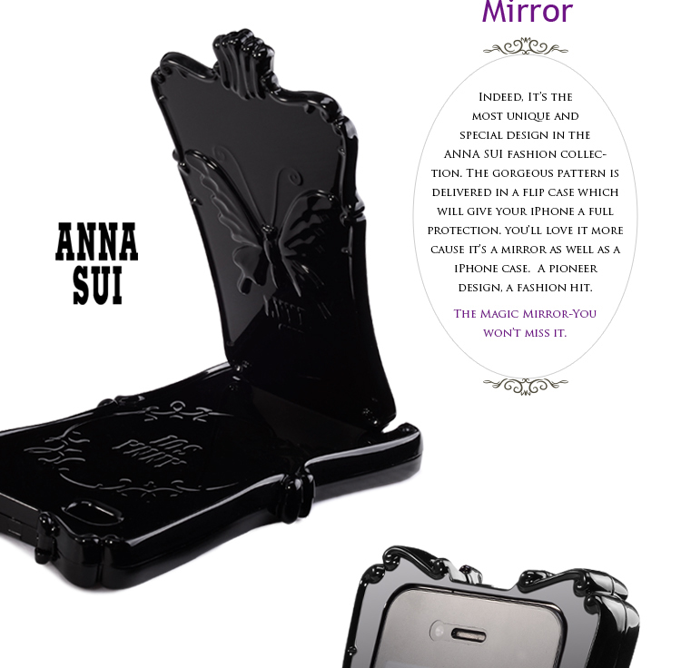 ANNA SUI Magic Mirror iPhone 4S Case black 3