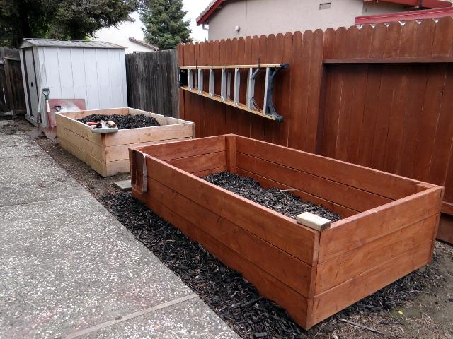 planter boxes that Barry built