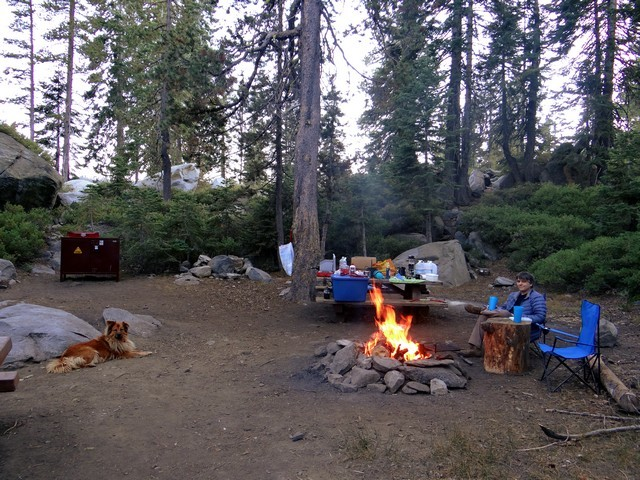 Barry and Boston at Silver Lake Campground, September 2016