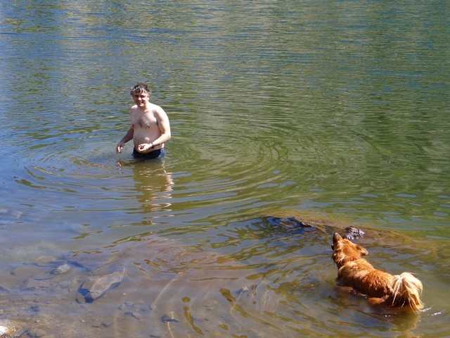 Barry and Boston at Gold Lake