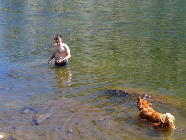 Barry and Boston at Gold Lake