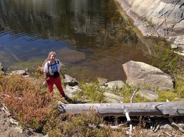 me at Rock Lake