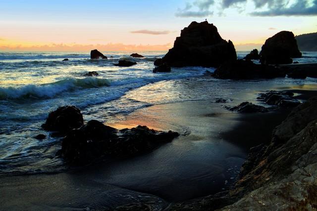 sunset at Westport-Union Landing State Beach