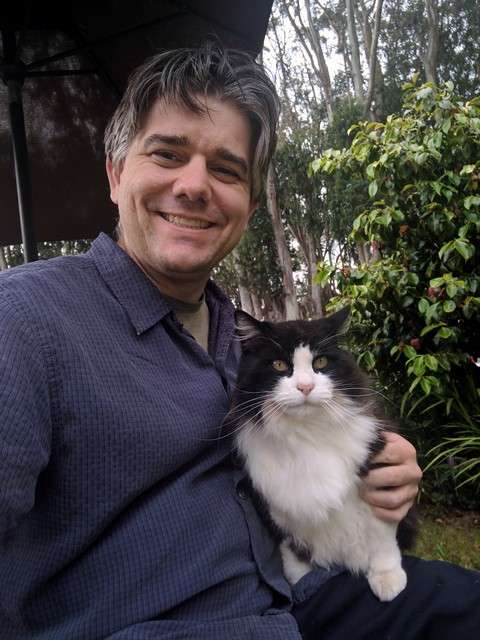 Barry with cat