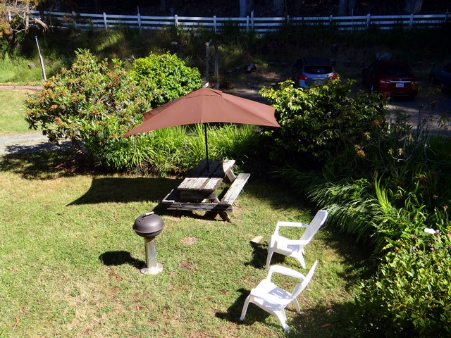 barbecue area below the Blue Balcony Room