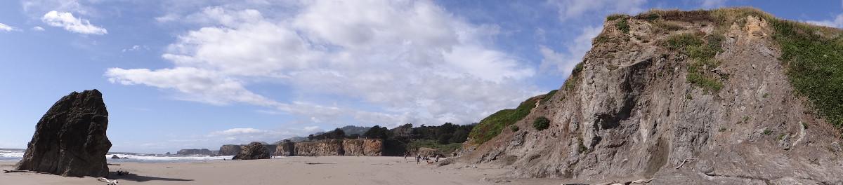 Seaside Beach panorama
