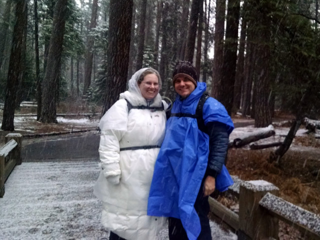 Barry and me on the Lower Yosemite Falls trail, February 26, 2018
