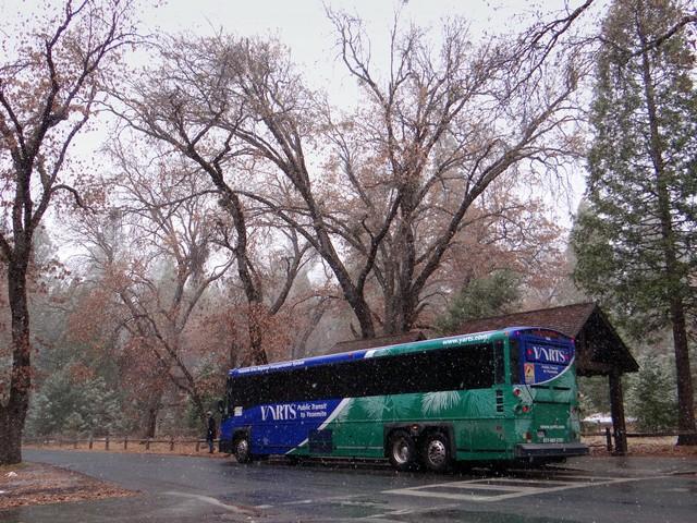 bus in Yosemite Village, February 26, 2018