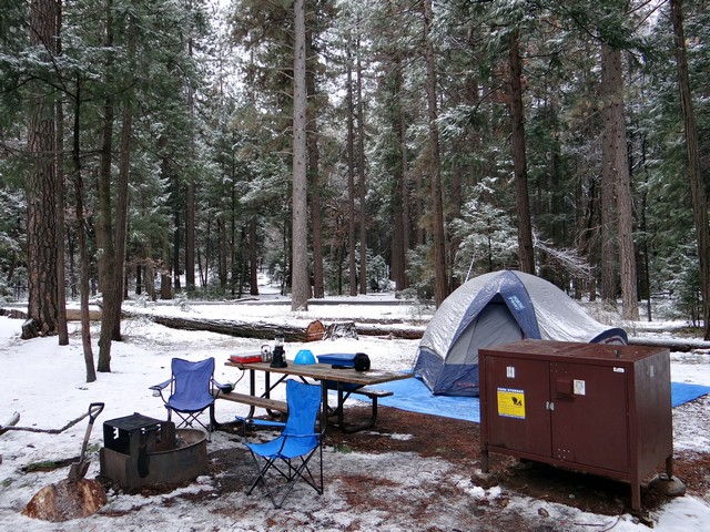 Our campsite, February 2018