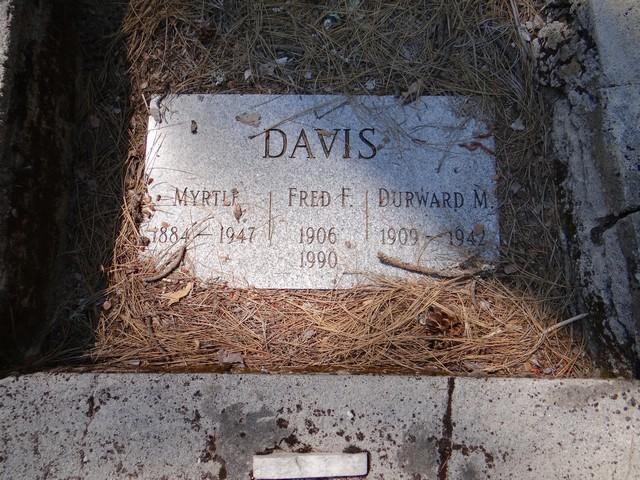Davis gravestone in Port Wine cemetery