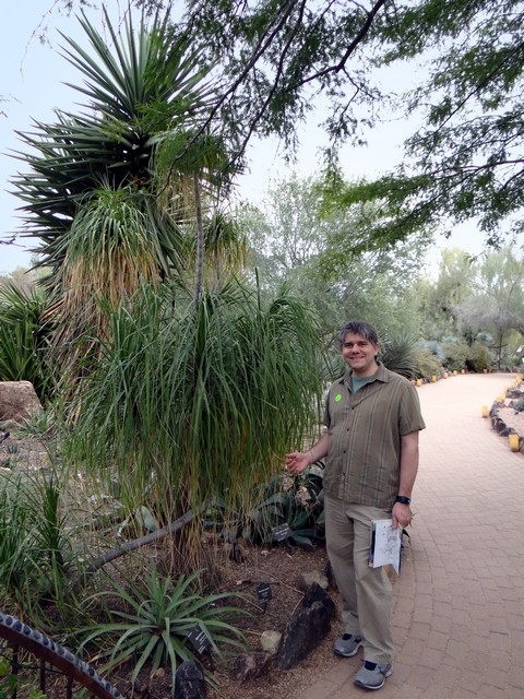 Barry at the Desert Botanical Garden in Phoenix