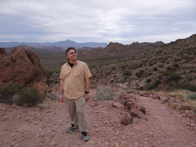 Barry on the Treasure Loop Trail in Lost Dutchman State Park