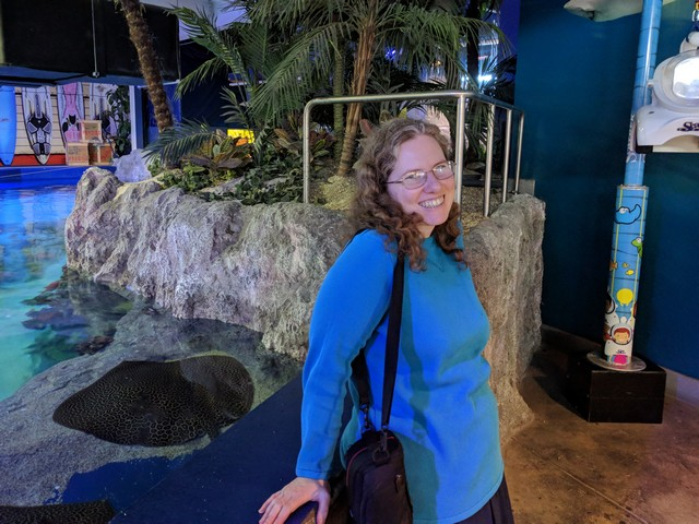me at the OdySea Aquarium in the Desert