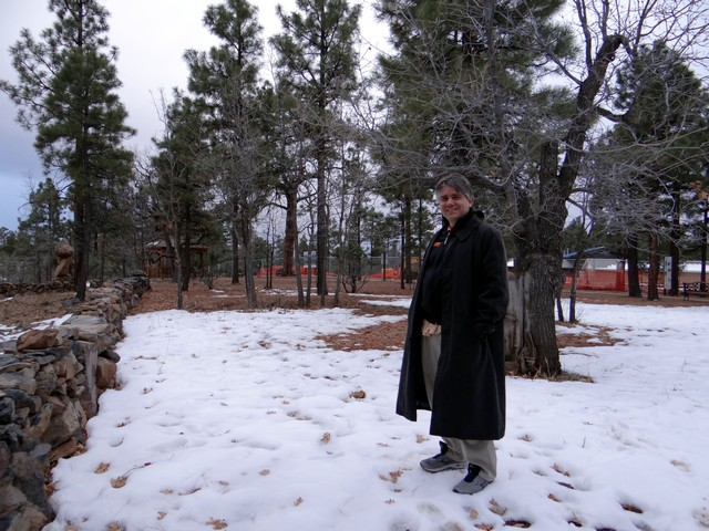 Barry at the Lowell Observatory