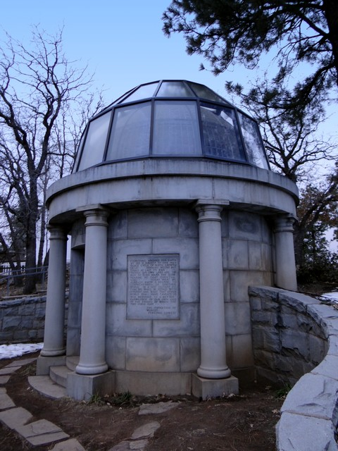 Percival Lowell's mausoleum at Lowell Observatory
