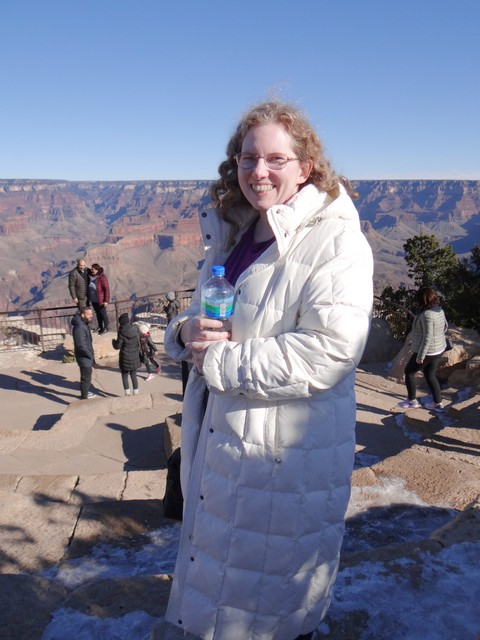 Grand Canyon: me at Mather Point Amphitheater