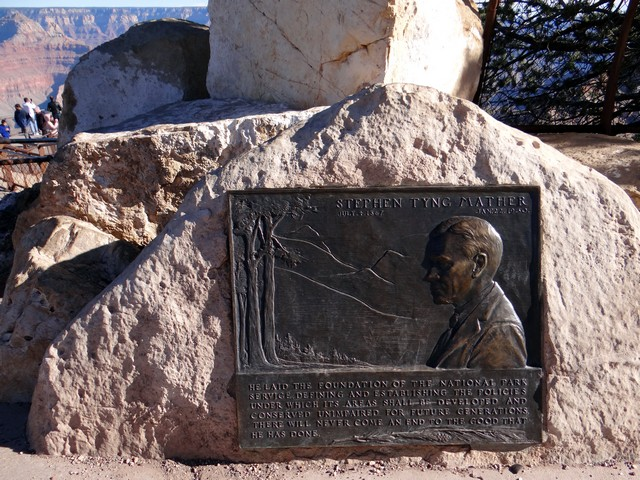 Stephen Tyng Mather plaque at the Grand Canyon