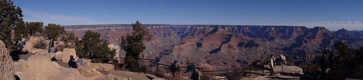 Grand Canyon: Mather Point Amphitheater panorama