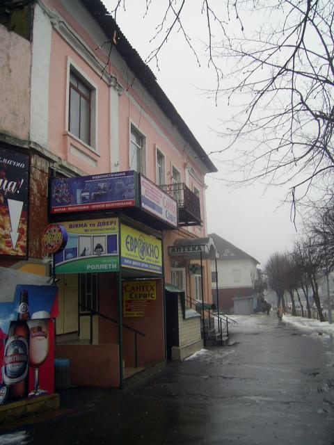 поворота с улицы Ленина.