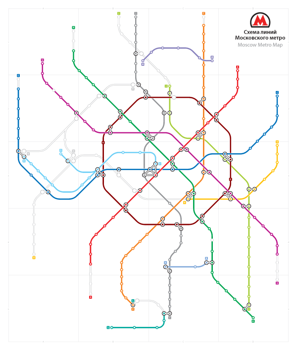 открытка схема метро шесть