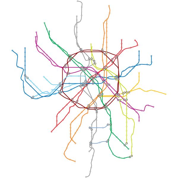 Открытка с картой метро, открытки марта