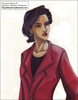 Elisa as she'll appear in the story