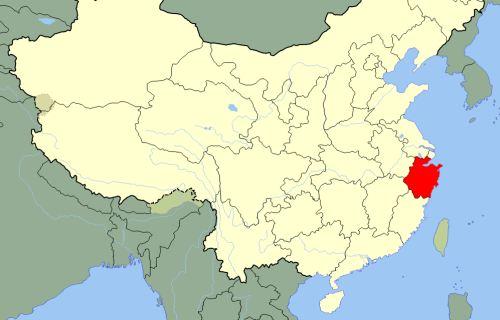 Провинция Чжэцзян на карте КИтая