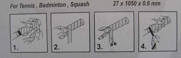 Как обмотать ручку ракетки