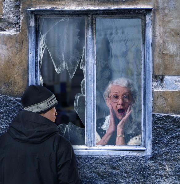 коллаж насильник бабушек
