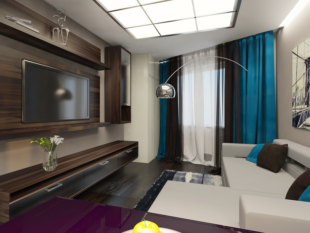 Дизайн малогабаритных квартир 44м