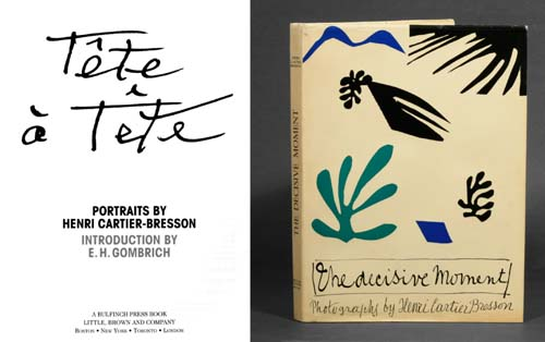 Книги «Tete-a-tete». Portraits by Henri Cartier-Bresson и  «The Decisive Moment»