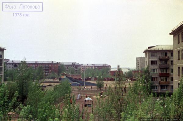 1978 Вид с балкона лето цвет