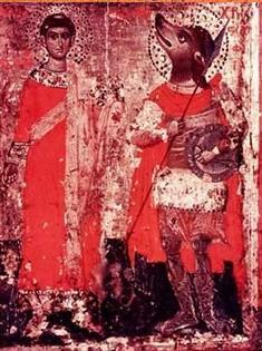 Рис.18 Фреска с изображением  Псеглавца