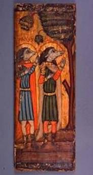 Рис. 19 Святые Ахракс и Авогани. Музей коптского искусства, г. Каир (Египет)