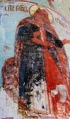 Рис.21  Фреска с изображением Св. Христофора, Макарьев монастырь