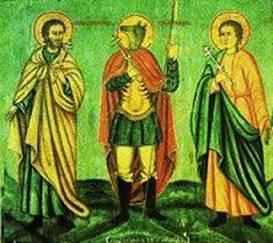 Рис.9 Икона, Св. Христофор с Флором и Лавром