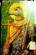 Рис.11 Псковский музей-заповедник  XVIII в., икона из Троицкого собора