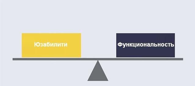 юзабилити: ищите баланс между юзабилити и функциональностью