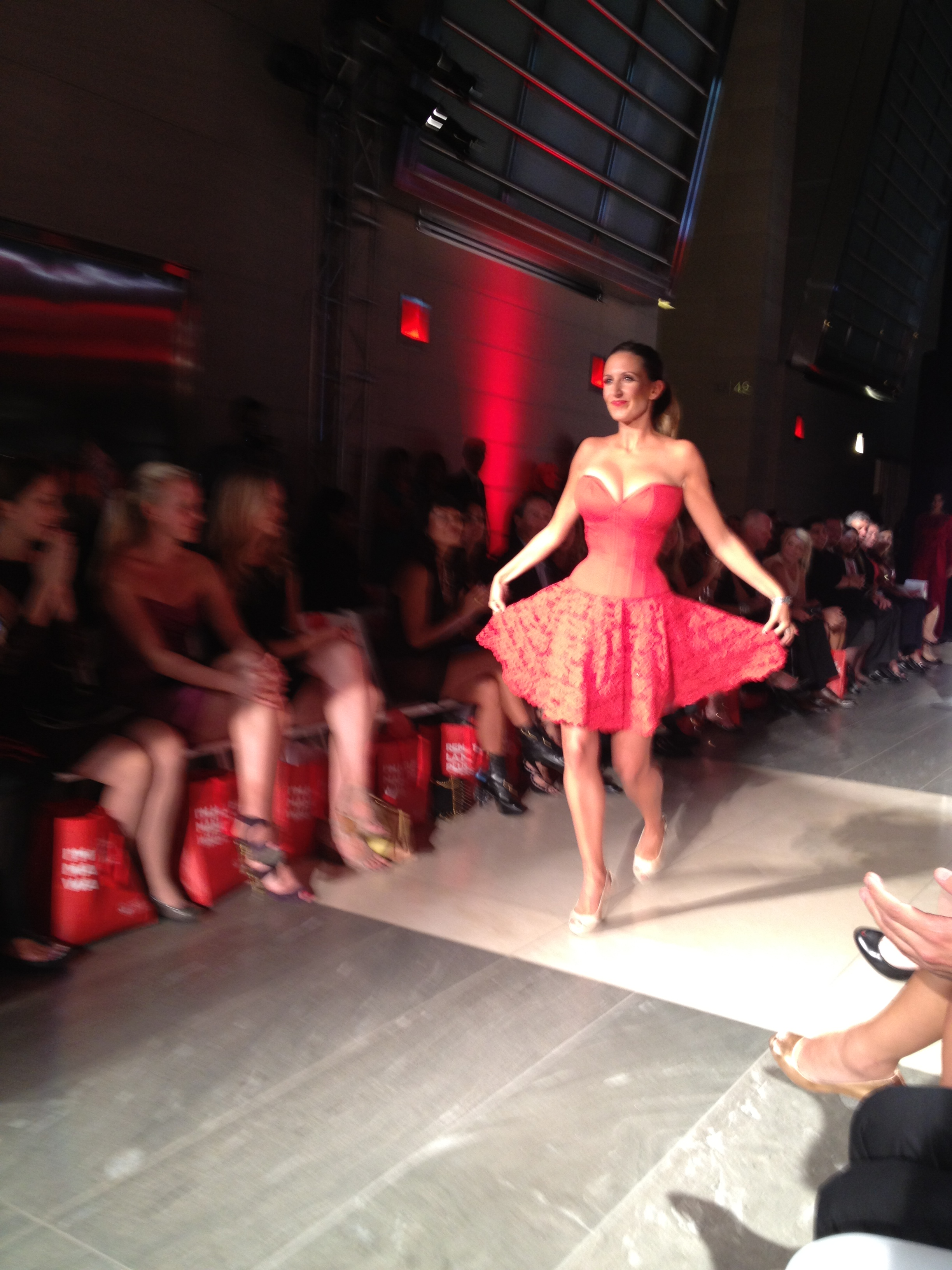 Jill Belland in Ivy Rose original corset and lace skirt at Heart Truth Calgary
