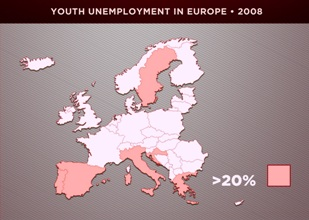 Copy of 2 - Europe youth unemployment 2008